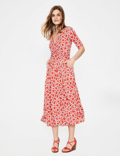 Kassidy Jersey Midi Dress - Rosehip Summer Leaves