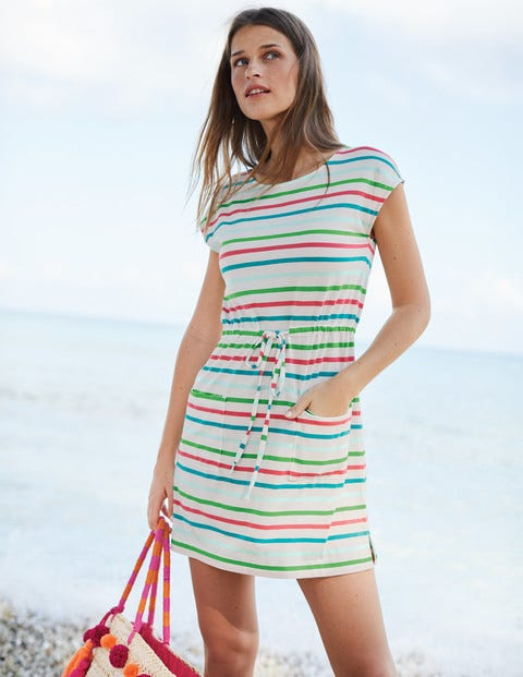 Harriet Jersey Tunic - Ripple Multi Stripe