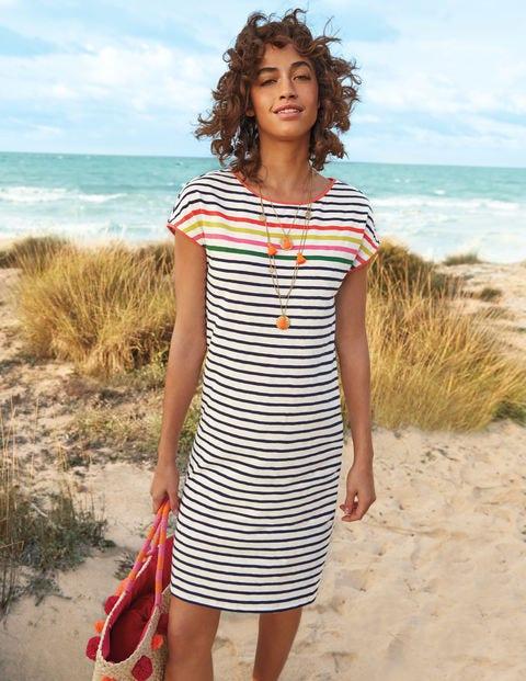 Paulina Jersey Dress - Rainbow Multi Stripe
