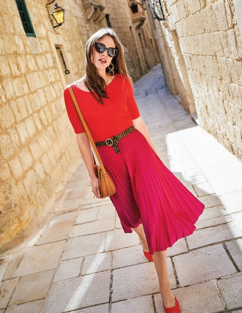 Brione Knitted Dress - Red Pop