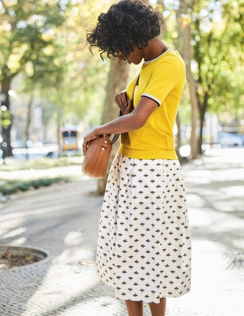 Lola Skirt - Ivory, Honey Bee