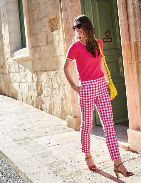 Richmond 7/8 Pants - Bright Pink Gingham