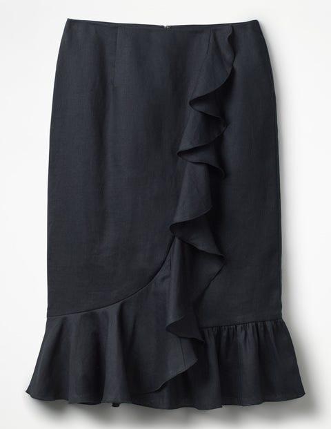 70791ae0d5b Neve Linen Skirt - Navy