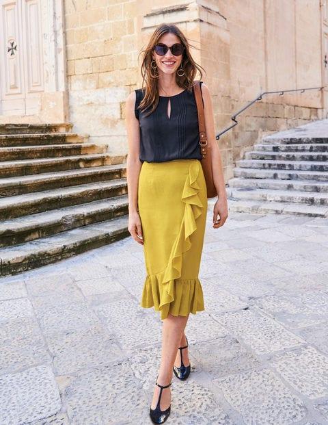 Neve Linen Skirt - Mimosa Yellow