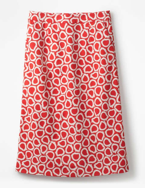Boden Modischer ausgestellter Rock Red Damen , Red rot |