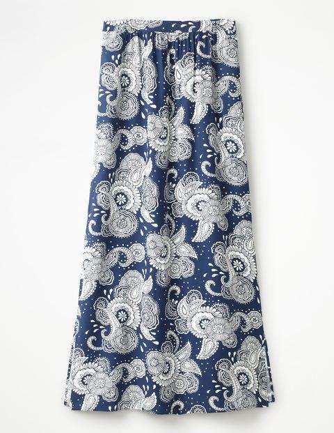 Juliette Maxi Skirt - Blue Paisley Garden