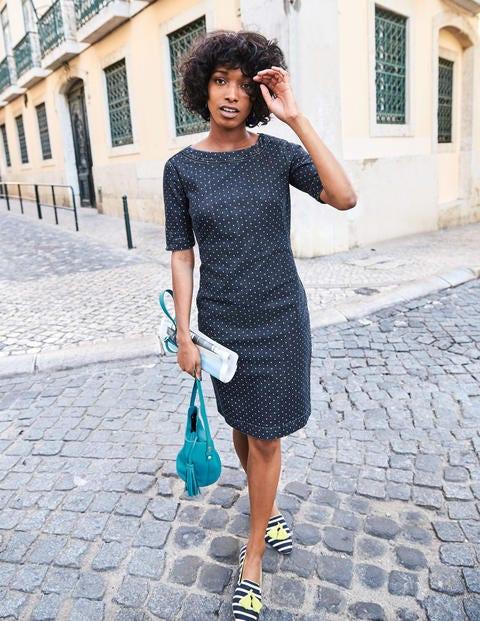 Rhea Denim Dress - Indigo Denim With Spot