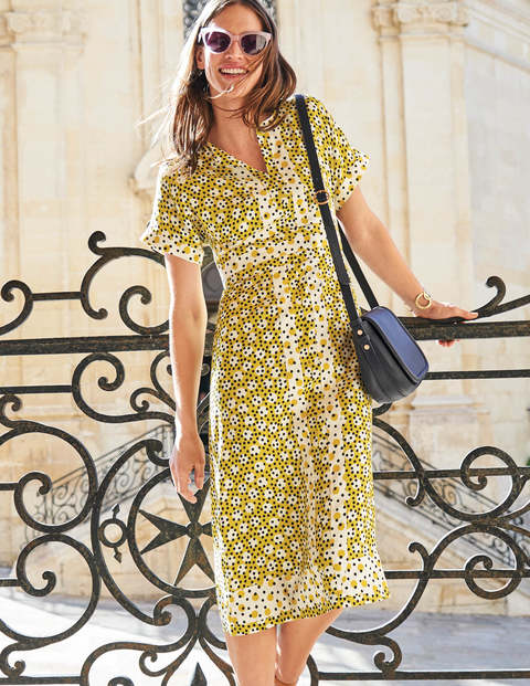 Esmeralda Dress - Mimosa Yellow Random Spot