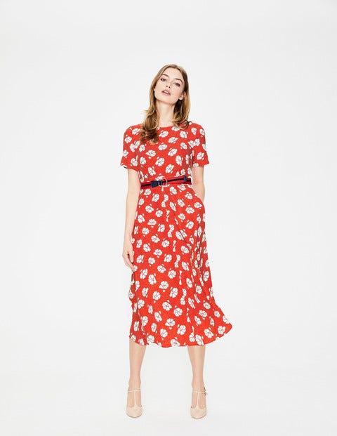 Ruth Midi Dress - Rosehip Primrose