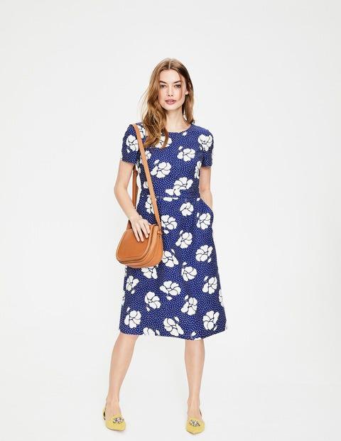 Sierra Textured Dress - Greek Blue Primrose