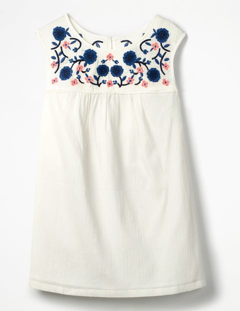 Portia Embroidered Top - Ivory