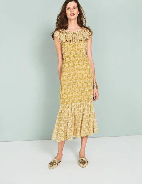 Allegra Midi Dress Yellow Women Boden, Yellow