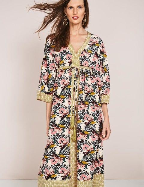 Carlotta Kimono Dress Ivory Women Boden, Ivory