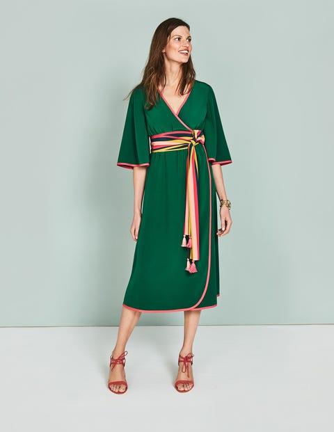 Cornelia Wrap Dress Green Women Boden, Green