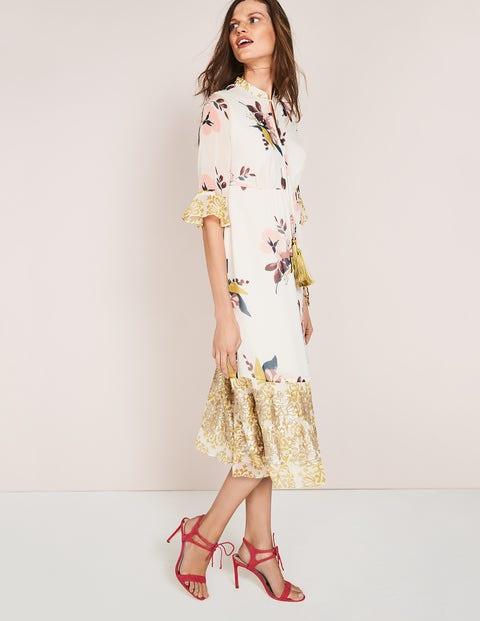 Cressida Tassel Dress Ivory Women Boden, Ivory