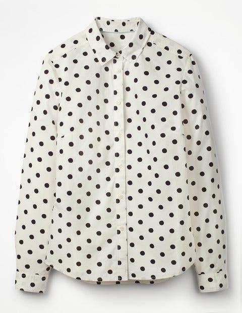 The Classic Shirt - Ivory, Black Spot