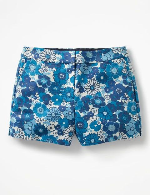 Short Richmond - Motif Swinging Floral Swim camaïeu bleu