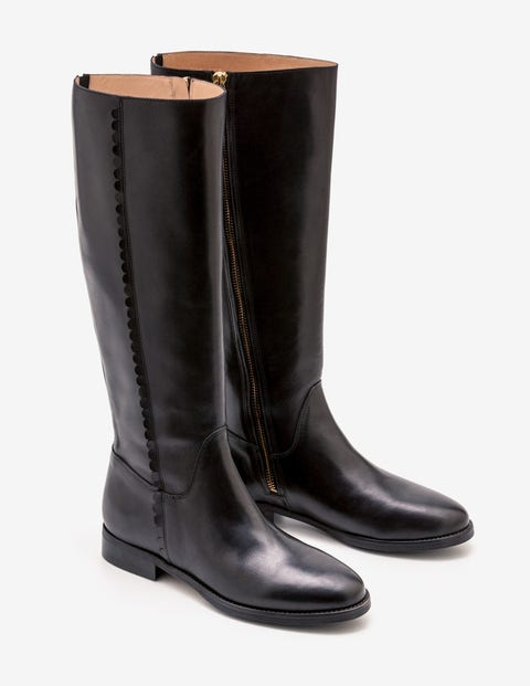 Malvern Knee High Boots - Black