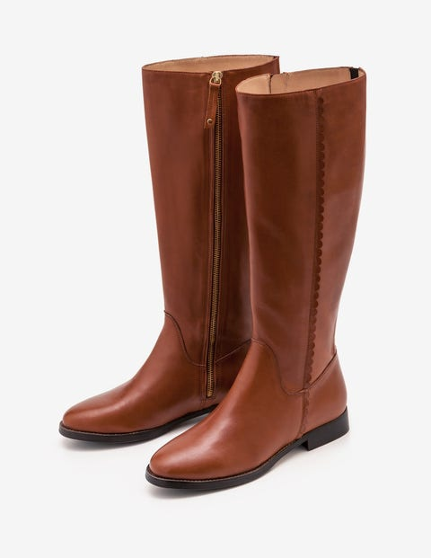 Malvern Knee High Boots - Tan