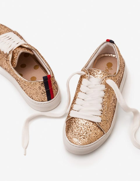 Classic Sneakers - Gold Glitter