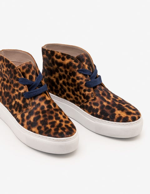 Platform Sneakers - Tan Leopard