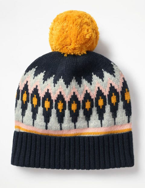 203a5518cdf Fair Isle Hat - Navy and English Mustard