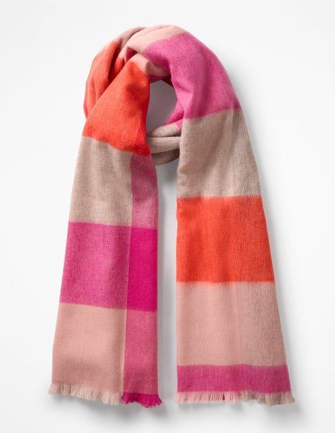 Colourful Wool Scarf - Pop Pansy Check