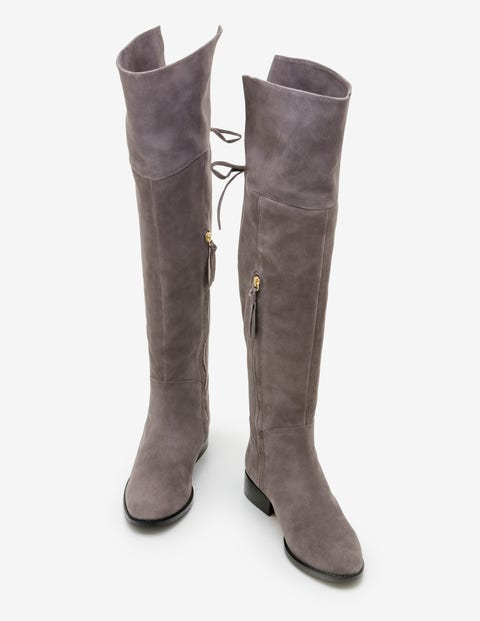 Bray Over The Knee Boots - Pewter