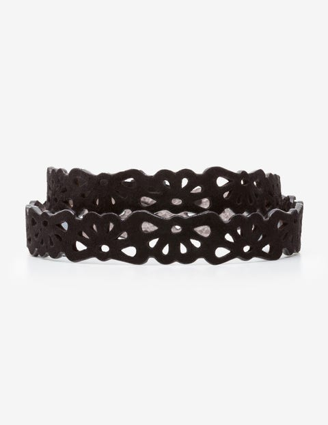 Eloise Cut Out Belt - Black