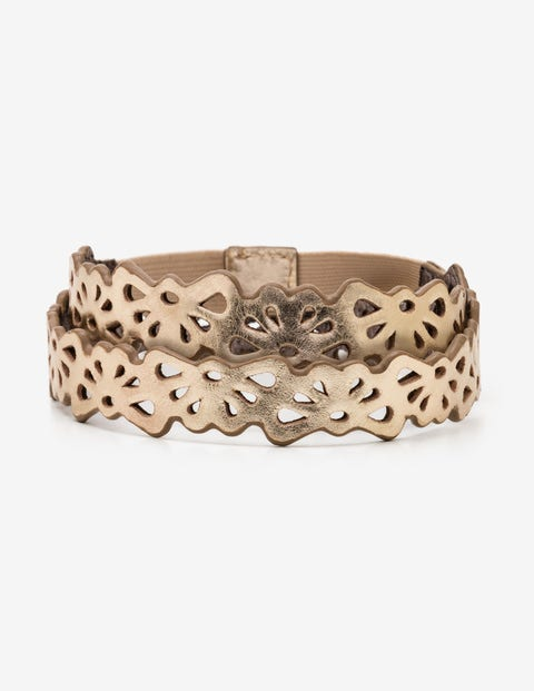 Eloise Cut Out Belt - Gold Metallic