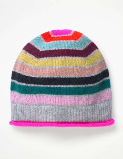 Cashmere Hat - Multi Stripe