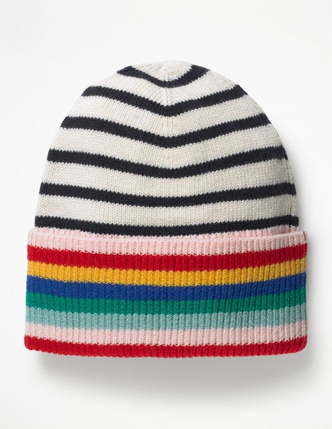Stripe Detail Hat A0377 Hats Scarves Gloves At Boden