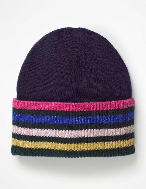 Stripe Detail Hat - Navy