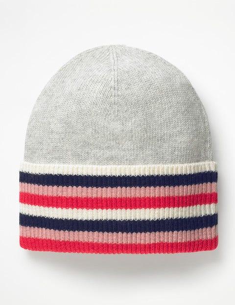 Stripe Detail Hat - Silver Melange