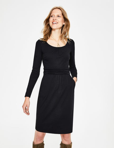 Mabel Jersey Dress - Black