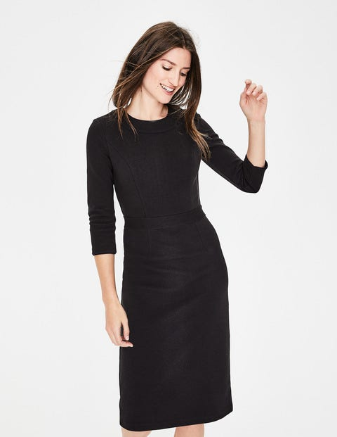 Mia Ottoman Dress - Black