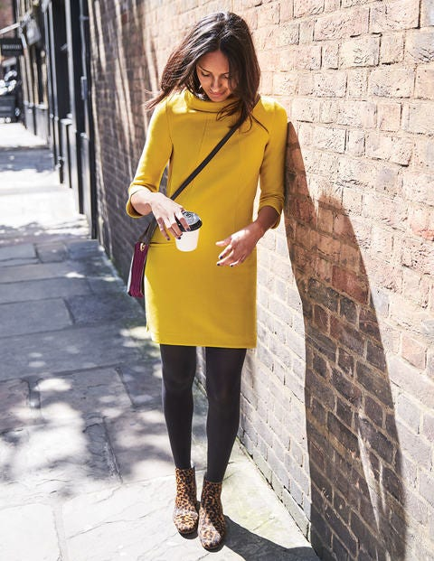 Alexandra Jersey Tunic - Hot Mustard