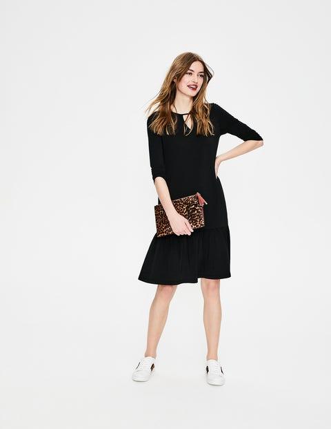 Selena Jersey Dress - Black