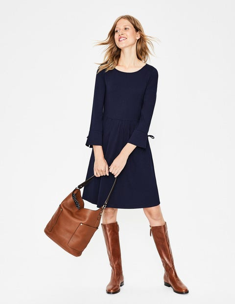 Posie Jersey Dress - Navy