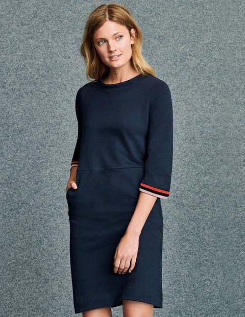 Livia Sweatshirt Dress - Navy