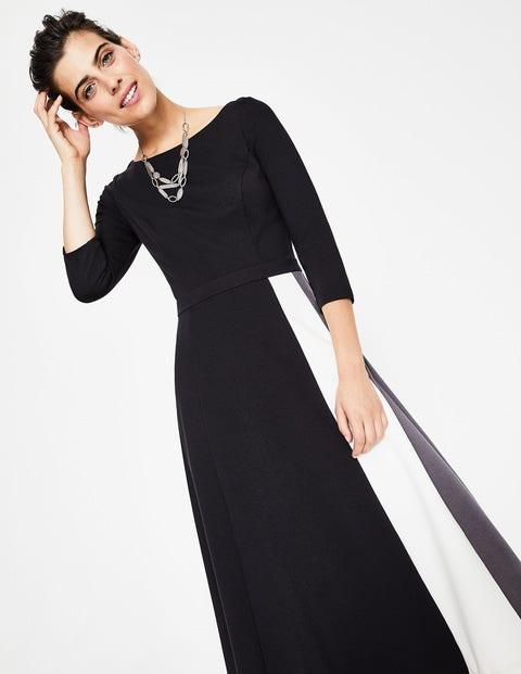 Claudia Ponte Midi Dress Black Boden Uk