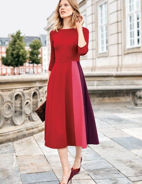 Claudia Ponte Midi Dress - Poinsettia