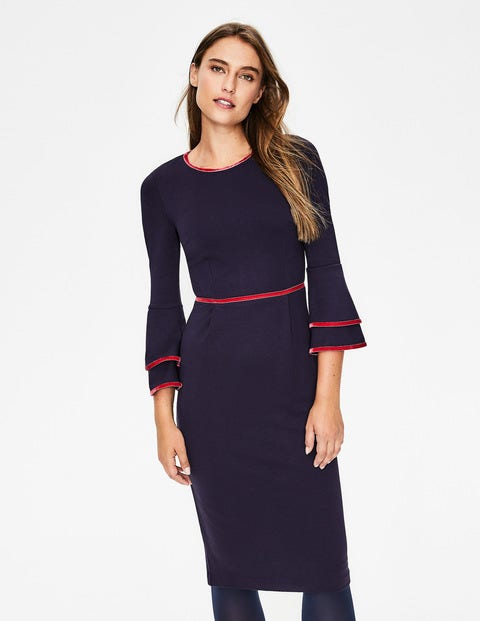 Cora Jersey Dress - Navy