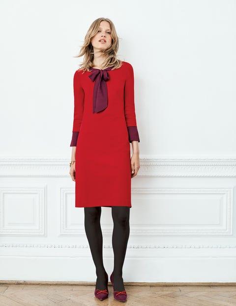 Josie Ponte Dress - Poinsettia