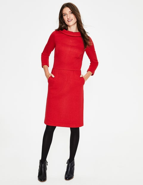 Estella Jacquard Dress - Poinsettia
