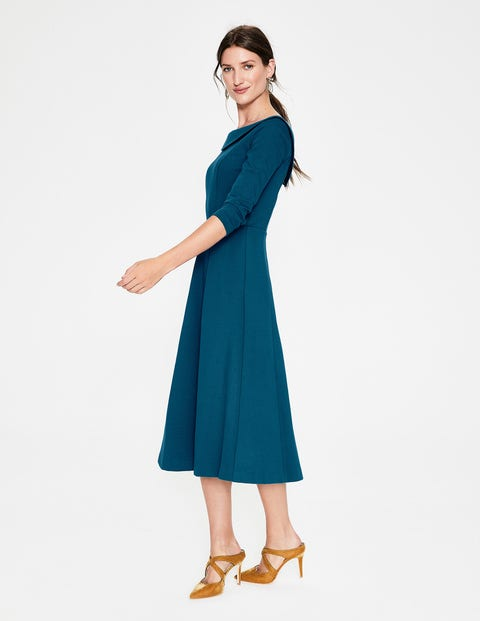 Maddie Ponte Midi Dress