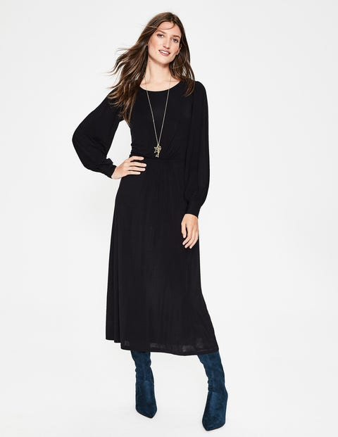 Zoe Jersey Midi Dress - Black