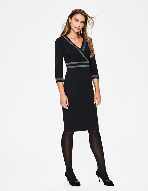 Nellie Ponte Dress - Black