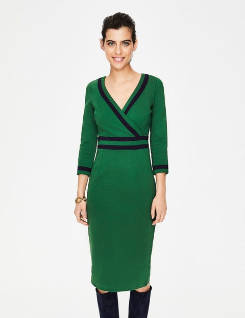 Nellie Ponte Dress - Amazon Green