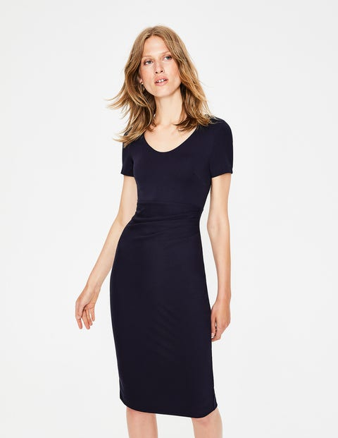 Madison Ponte Dress - Navy